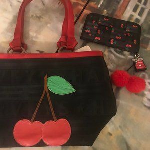Harveys Cherry Med Carriage Tote + Cherry Wallet